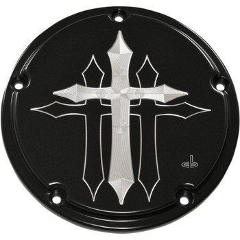 Carl Brouhard Cross Series Derby Cover for 2016-2018 Harley Touring - Black