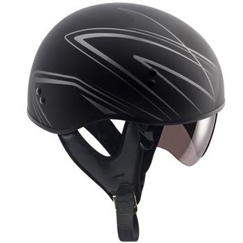 GMAX GM65 Naked Torque Half Helmet - Flat Black/Silver