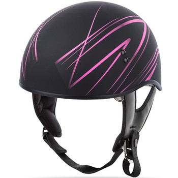 GMAX GM65 Naked Torque Half Helmet - Flat Black/Pink