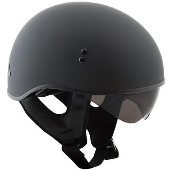 GMAX GM65 Solid Naked Half Helmet - Flat Black