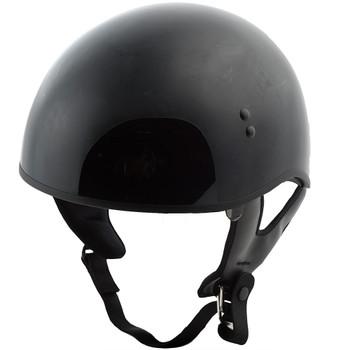 GMAX GM65 Solid Naked Half Helmet - Gloss Black