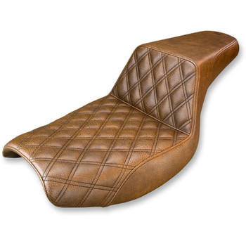 Saddlemen LS Step Up Seat for Harley FXR - Brown