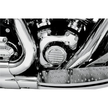 Joker Machine Finned Points Cover for 1999-2017 Harley Twin Cam - Chrome