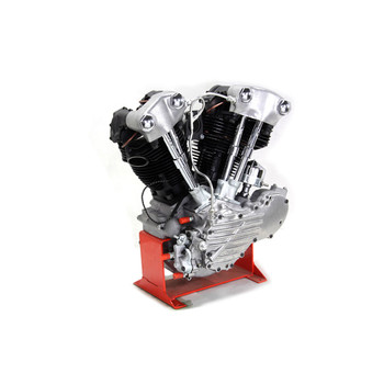 "V-Twin Replica Knucklehead 74"" Long Block Engine - Finned Style"