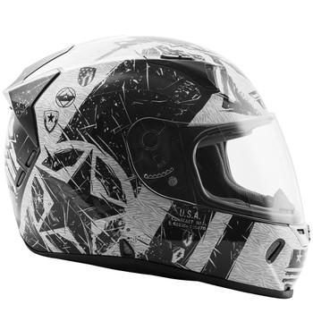 FLY Street Revolt FS Liberator Helmet - Gloss White/Black