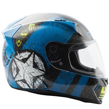 FLY Street Revolt FS Liberator Helmet - Gloss Blue/Hi-Vis