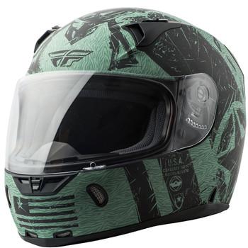 FLY Street Revolt FS Liberator Helmet - Matte Black/Green