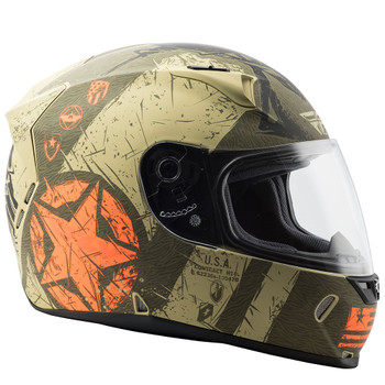 FLY Street Revolt FS Liberator Helmet - Matte Brown/Orange