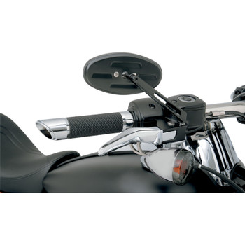 Drag Specialties Stealth II Mirror for Harley - Black