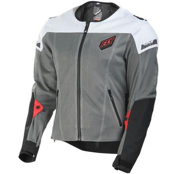 FLY Street Flux Air Mesh Jacket - Gray/White