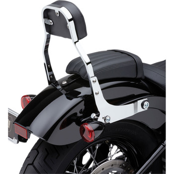 Cobra Detachable Backrest Kit w/ Square Pad for 2018 Harley Softail - Chrome