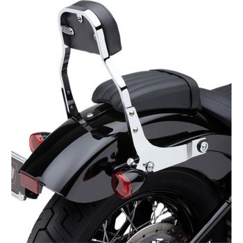 Cobra Detachable Backrest Kit w/ Square Pad for 2018 Harley Softail - Chrome