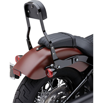 "Cobra Detachable 14"" Backrest Kit w/ Square Pad for 2018 Harley Softail - Black"
