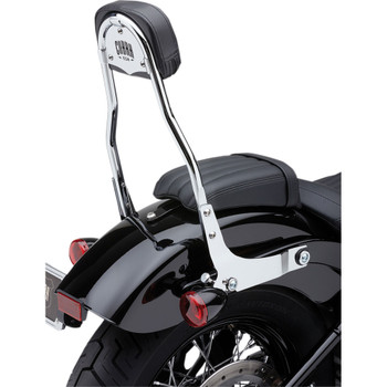 "Cobra Detachable 14"" Backrest Kit w/ Round Pad for 2018 Harley Softail - Chrome"