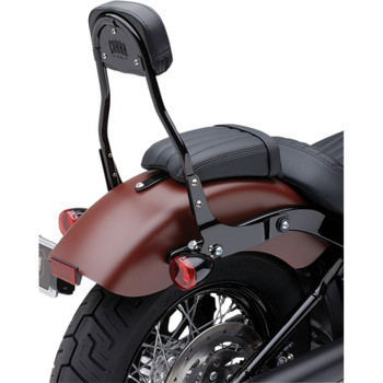 "Cobra Detachable 14"" Backrest Kit w/ Round Pad for 2018 Harley Softail - Black"