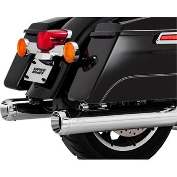 """Vance & Hines 4"""" Daytona 400 Slip-On Mufflers  for 1995-2016 Harley Touring - Chrome"""