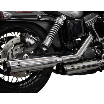 S&S Grand National Slip-On Mufflers for 1995-2017 Harley Dyna - Chrome
