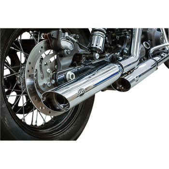 S&S Slash Cut Slip-On Mufflers for 1995-2017 Harley Dyna - Chrome