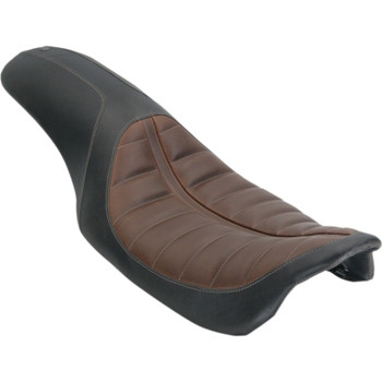 Roland Sands Enzo Touring 2-Up Seat for 2008-2019 Harley Touring - Brown