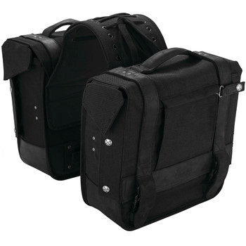 Burly Voyager Throw Over Saddlebags - Black