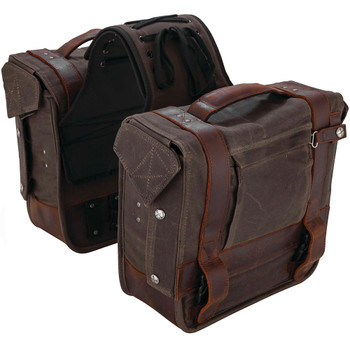 Burly Voyager Throw Over Saddlebags - Brown