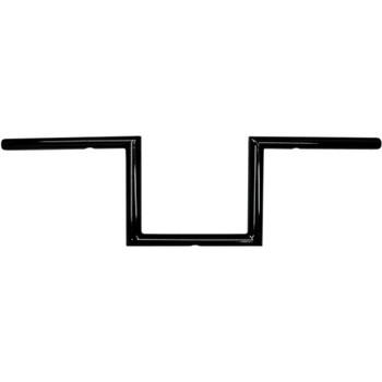 "LA Choppers 1"" Old School 6"" Narrow Z Bars Handlebars - Gloss Black"