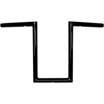 "LA Choppers 1"" Old School 12"" Narrow Z Bars Handlebars - Gloss Black"