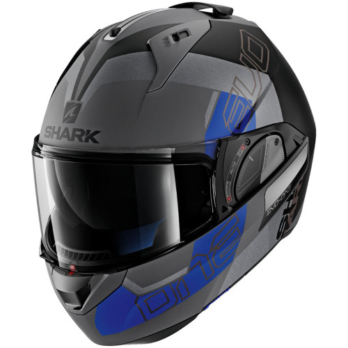 Shark Evo One 2 Slasher Modular Helmet - Grey/Black/Blue