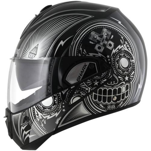 Shark Evoline 3 Mezcal Modular Helmet - Black/Chrome/White
