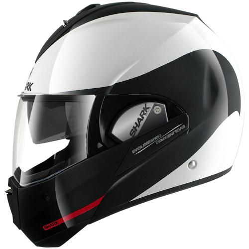 Shark Evoline 3 Hakka Modular Helmet - White/Black/Red