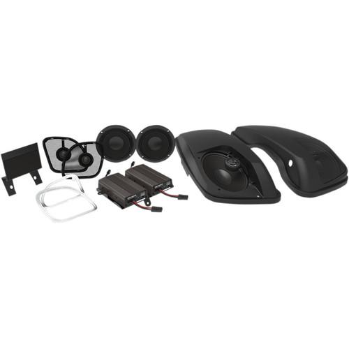 """Wild Boar 600 Watt Amp with 6"""" x 9"""" Speakers in Lids for 2015-2018 Harley Road Glide"""