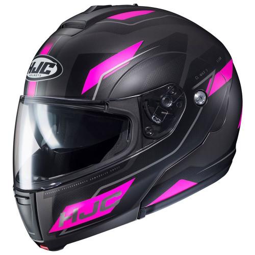 HJC CL-Max 3 Flow Modular Helmet - Matte Black/Pink