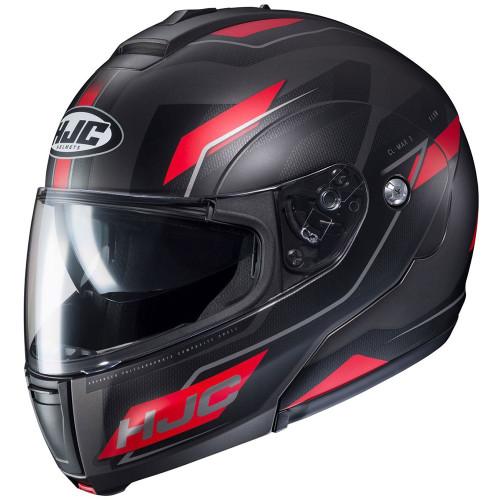 HJC CL-Max 3 Modular Helmet - Matte Black/Red
