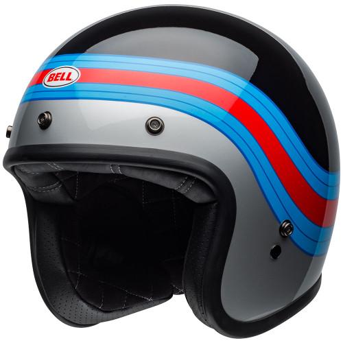 Bell Custom 500 Pulse Gloss Black/Blue/Red Helmet