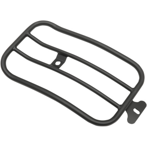 """Motherwell 7"""" Solo Luggage Rack for 2007-2017 Harley Fat Boy* - Matte Black"""
