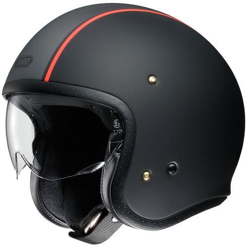 Shoei J.O. Helmet - Black Carburetor TC-8