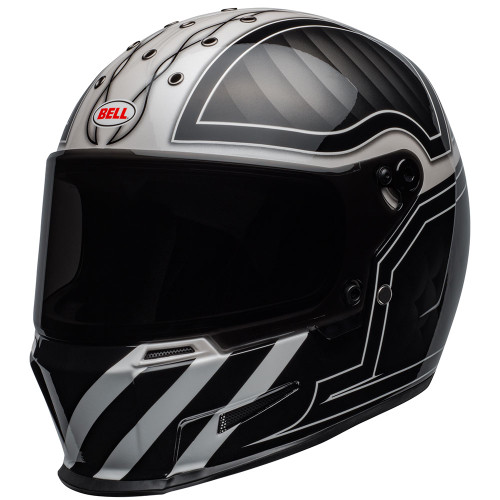 Bell Eliminator Outlaw Gloss Black/White Helmet