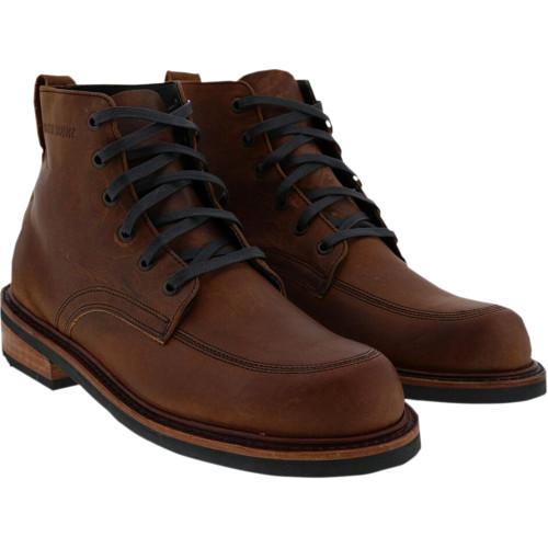 Broken Homme Davis Leather Boots - Brown