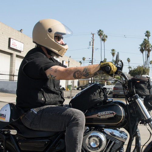 Biltwell Lane Splitter Helmet - Flat Coyote Tan