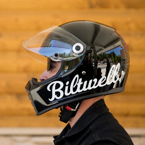Biltwell Lane Splitter Helmet - Factory Gloss Black