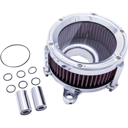 Trask Assault Charge High-Flow Air Cleaner for 2008-2017 Harley* - Chrome