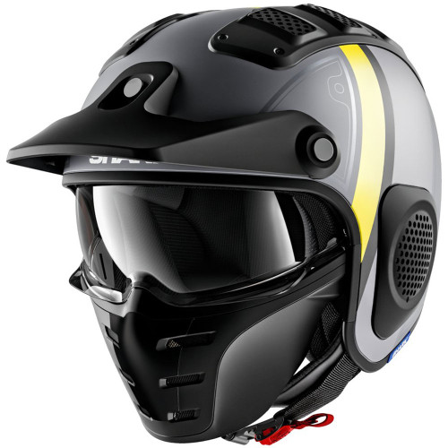 Shark X-Drak Helmet - Terrence Matte Grey/Yellow