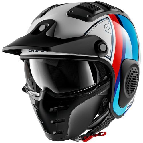 Shark X-Drak Helmet - Terrence White/Blue/Red