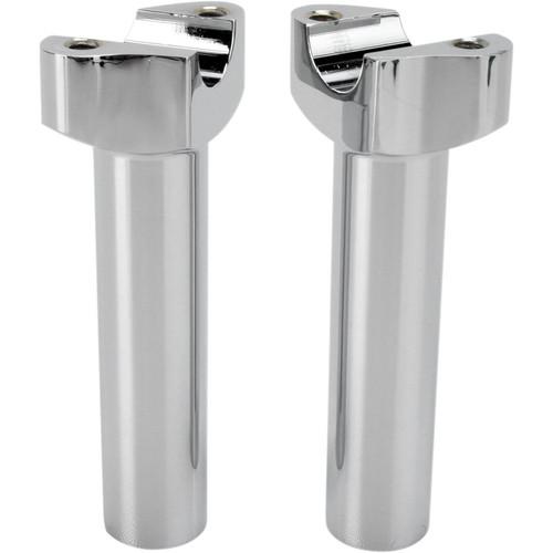 "Drag Specialties 5.5"" Forged Aluminum Straight Handlebar Risers - Chrome"