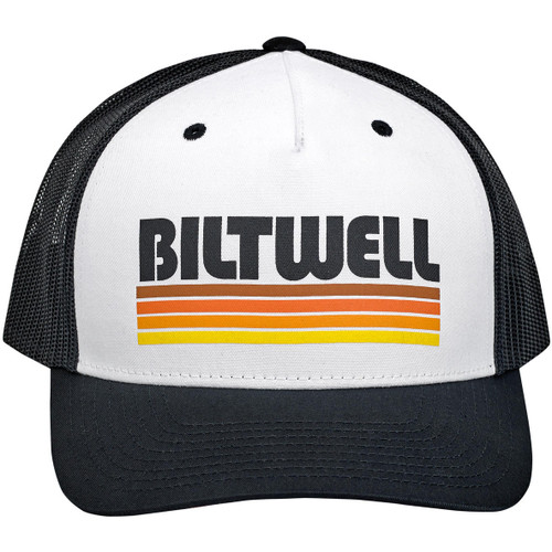 Biltwell Surf Snap Back Hat - Black/White/Orange