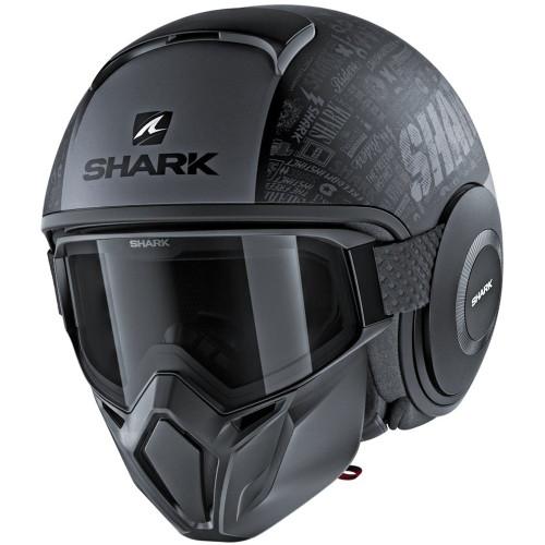 Shark Drak Street Helmet - Tribute RM Matte Black/Gray