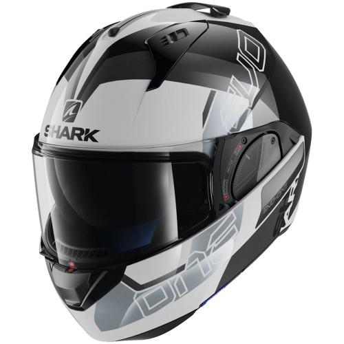 Shark Evo One 2 Slasher Modular Helmet - White/Black/Silver