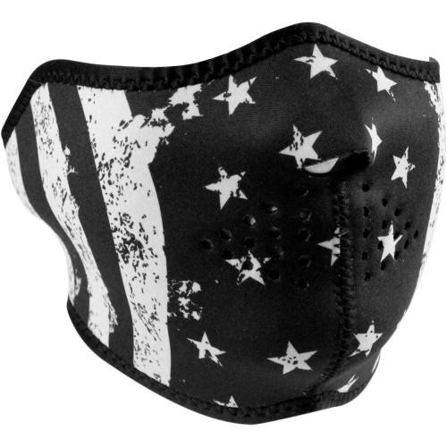 Zan Headgear Black/White Flag Half Face Mask