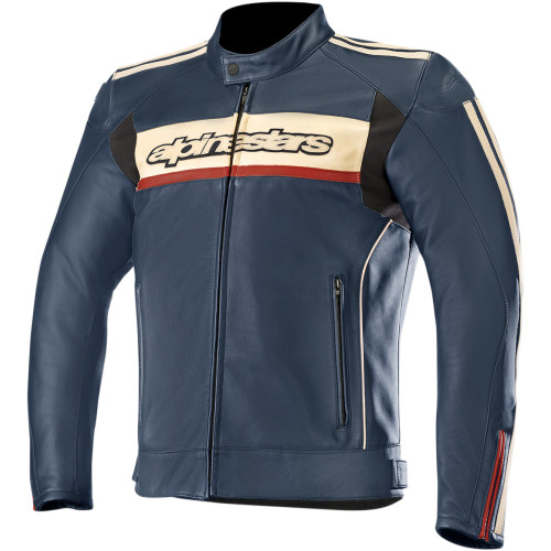 Alpinestars Dyno v2 Leather Jacket - Blue