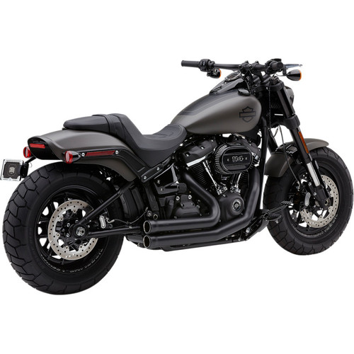 Cobra 909 2-Into-2 Exhaust for 2018-2020 Harley Fat Bob - Black